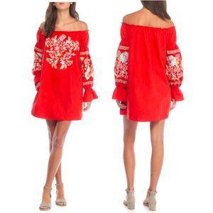 FREE PEOPLE Fleur Du Jour floral offshoulder dress